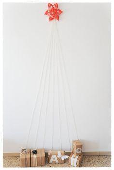 DIY - Simple wool xmas tree by facilysencillo