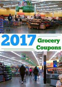 Grocery Coupons 2017! Get all of the best grocery coupons to save money in 2017! Easy printable grocery coupon options to save on your weekly shopping trip! This coupon list will be updated frequently. Bookmark the list and come back for an easy and quick coupon reference!