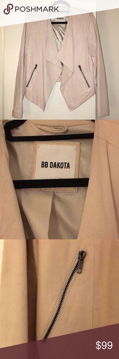 BB Dakota Leather Jacket Nude Real Leather Jacket BB Dakota Jackets & Coats Blazers