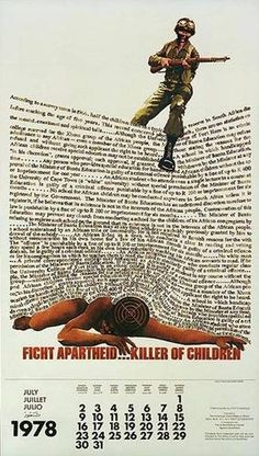 Fight Apartheid, Killer of Children. Cover Design, Nelson Mandela Foundation, South Africa Art, Pamphlet Design, Gil Scott Heron, Apartheid, African History, Cool Posters, History Facts