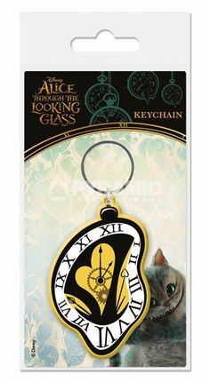 Alice Through The Looking Glass - Clock - Rubber Key Ring
