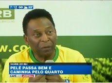 Galdino Saquarema Esporte: Pelé passa bem e já caminha pelo quarto