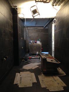4. August 2015 - Der neue Küchenraum präsentiert sich komplett in Schwarz. Nächste Woche werden die neuen Küchengeräte eingebaut.