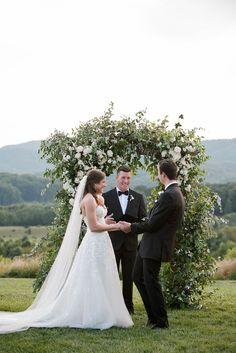 Summer Wedding at Pippin Hill Farm and Vineyards, Wedding Venue in Charlottesville, VA. Photography by Kylie Martin Photography. Event Planning and Design by Donovan Groves Events. Florals by Blue Ridge Floral Design. Purple Mountain Majesty, Blue Ridge Mountains, Charlottesville, Vows, Event Planning, Summer Wedding, Vineyard, Backdrops, Wedding Venues
