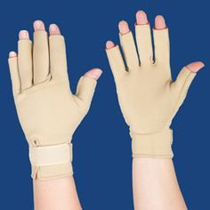 For those with arthritus in their hands - Deep heat can make a difference!  Solutions - Thermoskin Warming Gloves  $34.98