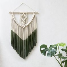 Macrame Dip Dyed Wall Hanging by Teddy and Wool - Five Gorgeous Macrame Wall Hangings on Etsy plus bonus DIY Macrame Patterns
