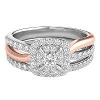 1 ct. tw. Diamond Three-Stone Anniversary Ring in 14K White