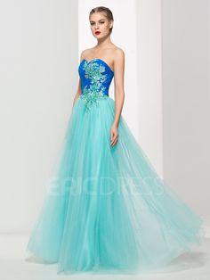 Ericdress Sweetheart Appliques Sequins Pleats Prom Dress 3