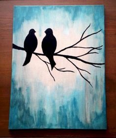 Easy art painting ideas easy canvas painting ideas for beginners diy canvas art painting ideas Easy Canvas Painting, Simple Acrylic Paintings, Diy Canvas Art, Painting & Drawing, Canvas Ideas, Bird Canvas Paintings, Painted Canvas, Image Painting, Pour Painting