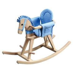 This rocking horse is perfect for an infant and a toddler because it is a rocking bassinet that transforms with your child as he ages. Just remove the railing and voila, this bassinet transforms into