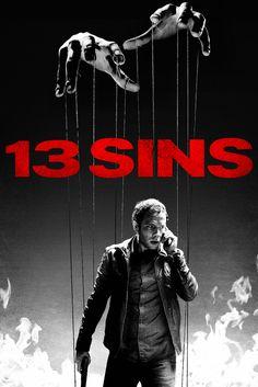 13 Sins Movie Poster - Mark Webber, Ron Perlman, Rutina Wesley #13Sins, #MoviePoster, #DanielStamm, #Thriller, #MarkWebber, #RonPerlman, #RutinaWesley