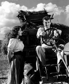 Jennifer Jones & Robert Walker in 'Since You Went Away'.  I've never seen this movie, but Jennifer's outfit is darling.