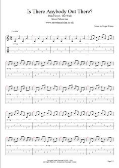 Pink Floyd – Is There Anybody Out There – Guitar Lesson, Video, Tab, Pdf « Street Musician – Guitar Blog