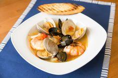 Clams, mussels, shrimp