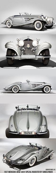 1937 Mercedes-Benz 540 K Spezial Roadster by Sindelfingen...whoa...