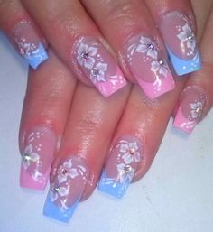 Nail figures 2018 for hands and feet Tropical Nail Designs, Purple Nail Designs, Nail Designs Spring, Cute Nail Designs, Square Nail Designs, French Nail Designs, Elegant Nail Art, Beautiful Nail Art, Cute Toe Nails
