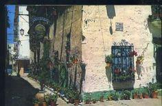 POSTAL DE CADIZ - Nº 60 CALLE DE LOS DUROS ANTIGUOS Rota Spain, Cadiz, Painting, Carnival, Andalusia Spain, Santa Maria, Antique Photos, Windows, Viajes