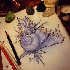Rodjaasexface - Crystal snail for Yanina! #tattoo #design...
