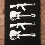 Kalashnikovs & Rickenbacker – White on Black by Patrick Thomas