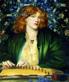 The Blue Flower, Dante Gabriel Rossetti (c. 1865)