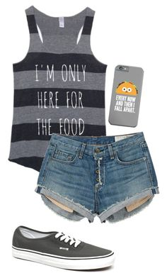 """im only here for the food"" by blackfashion123 ❤ liked on Polyvore featuring rag & bone and Vans"