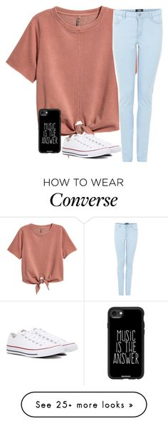 """Untitled #2616"" by laurenatria11 on Polyvore featuring Converse and Casetify"