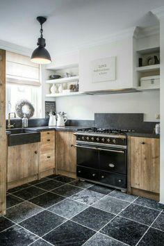Trendy home office design bookcases desks Ideas Küchen Design, Door Design, Blue Design, Design Ideas, Rustic Kitchen, New Kitchen, Kitchen Ideas, Kitchen Black, Country Kitchen