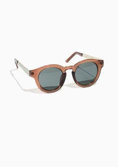 & Other Stories Round Sunglasses in Beige Dark