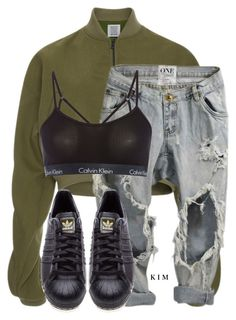 """Untitled #3299"" by kimberlythestylist ❤ liked on Polyvore featuring Rosie Assoulin, Calvin Klein and adidas Originals"