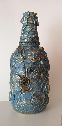 Превращаем обычную бутылку в креативный предмет для декора интерьера - Ярмарка Мастеров - ручная работа, handmade