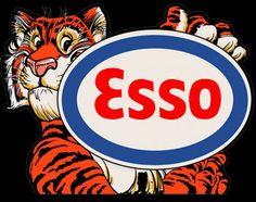 Esso - Vintage Gas - Oil Signs - Garage Art LLC