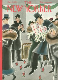 """December 7, 1935,"" by Robert J. Day. For more holiday covers from the archive: http://nyr.kr/1vNahQO"