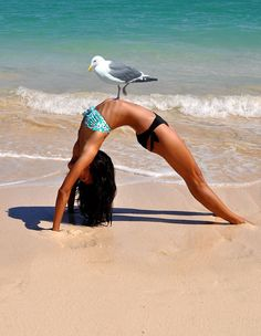 Yoga with a friend ❥ lol..... ouch!!!