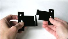 H style exterior shutter hinge separated