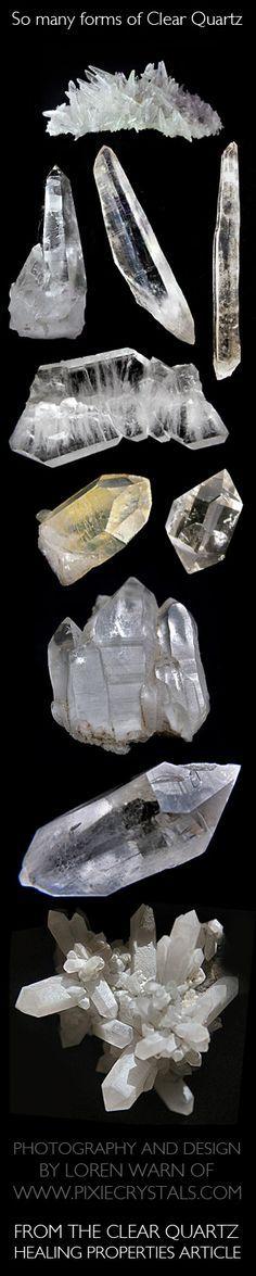 CLEAR QUARTZ Crystal Healing Properties - CLEAR QUARTZ CONFIGURATIONS