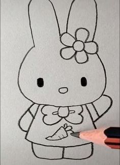 Rabbit Drawing Easy drawings easy step by step Rabbit Drawing Easy Easy Animal Drawings, Easter Drawings, Cute Cartoon Drawings, Easy Drawings For Kids, Bird Drawings, Easy Doodles Drawings, Easy Drawings For Beginners, Simple Doodles, Rabbit Drawing Easy