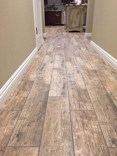 BuildDirect – Porcelain Tile - Redwood Series  – Natural - Hallway View