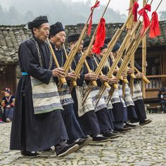 Village Seniors Playing Lusheng by William Yu on 500px
