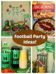 Football Party Ideas - including FREE PRINTABLES - events to CELEBRATE! #gametimegoodies #shop