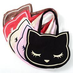Osumashi Pooh-chan Canvas Tote Bags