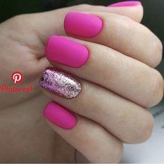 Spring nails 2019 gel short simple 35 – www.GasStationMai… – Gas Station Maintenance Spring nails 2019 gel short simple 35 – www. Hot Pink Nails, Fancy Nails, Trendy Nails, Mauve Nails, Classy Nails, Perfect Nails, Gorgeous Nails, Short Gel Nails, Super Nails