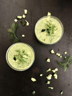 koude komkommer - dille - munt soep