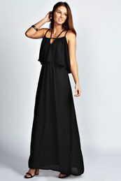 Constance Keyhole Strappy Maxi Dress