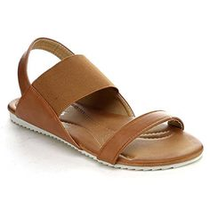 Nature Breeze Belinda02 Womens Elastic Strap Two Tone Sole Flat Sandal CAMEL85 >>> Read more  at the image link.