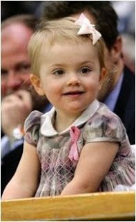 Princess Estelle of Sweden attended a tennis tournament. This most adorable little princess, daughter of Crown Princess Victoria and Prince Daniel, smiled and shook hands, then turned and gave a little wave to the crowd.