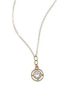 Athena Designs Gold CZ Pendant Necklace #maxandchloe