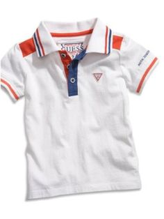 GUESS Kids Boys Polo Shirt with Striped Trim (12-24m),