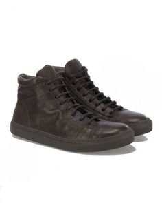 The Last Conspiracy JORGE Mid Top Sneakers in Braun