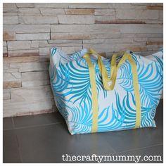 Big Blue Tote {via And Sew We Craft}