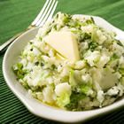 Colcannon.  Cross between mashed potatoes and cabbage